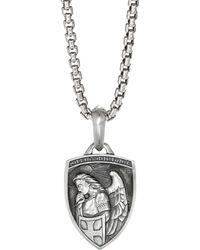 David Yurman Men's St. Michael Amulet Enhancer - Metallic