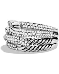 David Yurman - Labyrinth Double - Loop Ring With Diamonds - Lyst