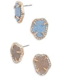BaubleBar Adelina Druzy Earrings - Blue
