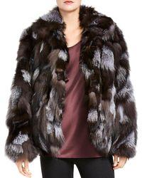 Halston Patched Fox Fur Jacket - Multicolour