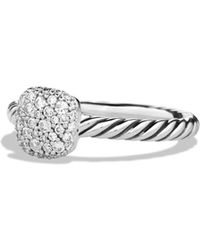 David Yurman - Petite Pavé Cushion Ring With Diamonds - Lyst