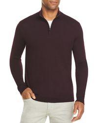 Bloomingdale's The Store At Bloomingdale's Quarter - Zip Merino Sweater - Multicolor