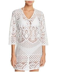 J Valdi - Embroidered Floral Tunic Swim Cover-up - Lyst