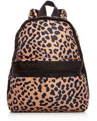 LeSportsac Candace Leopard Print Backpack - Black