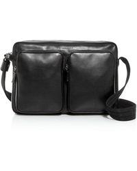 Longchamp Baxi Leather Messenger Bag - Black