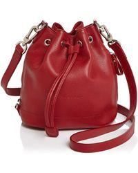 Longchamp La Foulonne Small Bucket Bag - Red