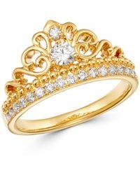 Bloomingdale's Diamond Milgrain Ring In 14k Yellow Gold - Metallic