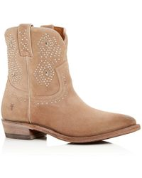 Frye Women's Billy Studded Short Boots - Natural