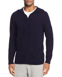 Bloomingdale's Cashmere Full Zip Hoodie - Blue