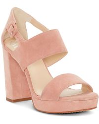 Vince Camuto - Women's Jayvid Suede Platform Sandals - Lyst