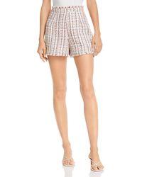Cinq À Sept Coronado Tweed Shorts - Multicolour