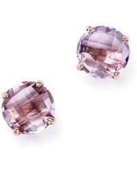 Bloomingdale's - Rose Amethyst Briolette Stud Earrings In 14k Rose Gold - Lyst