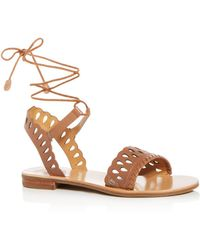 Jack Rogers - Women's Ruby Leather Ankle Tie Sandals - Lyst