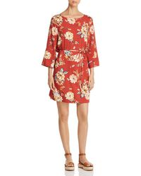 Beach Lunch Lounge - Belted Floral-print Dress - Lyst