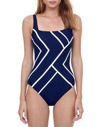 Gottex Mirage One Piece Tummy Control Swimsuit - Blue