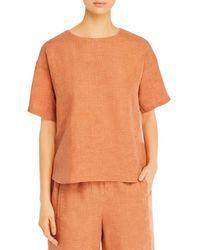 Eileen Fisher Organic Linen Top - Orange