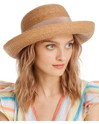 Helen Kaminski Newport Raffia Sun Hat - Brown