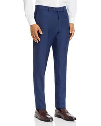 Bloomingdale's Birdseye Classic Fit Dress Pants - Blue