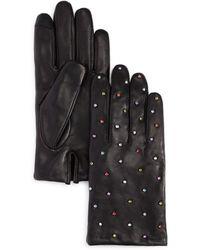 Echo - Rani Embellished Leather Gloves - Lyst