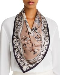 Echo - Floral Tree Silk Square Scarf - Lyst