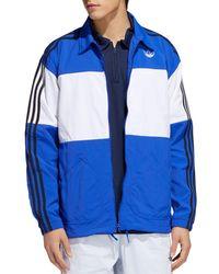 Big Stripe Track Jacket Blue