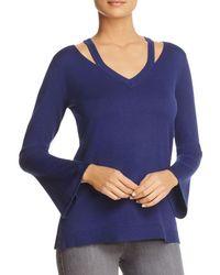 Love Scarlett - Cutout Shoulder Bell Sleeve Sweater - Lyst