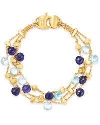Marco Bicego - 18k Yellow Gold Paradise Iolite & Blue Topaz Beaded Bracelet - Lyst