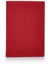 Longchamp Le Foulonné Passport Wallet - Pink