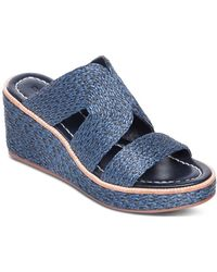 Bernardo Bernado Kaia Wedge Slide Sandal - Blue
