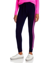 Aqua Cashmere Side Stripe Jogger Trousers - Multicolour