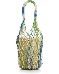 Aqua Rai Small Net Bucket Bag - Multicolor