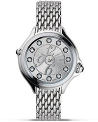 Fendi Round Crazy Carats Diamond And Topaz Stainless Steel Watch - Metallic