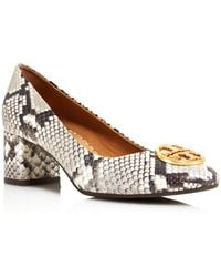 d46a2563968 Tory Burch - Women s Chelsea Round Toe Snakeskin-embossed Leather Court  Shoes - Lyst