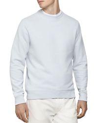 Reiss Arthur Garment - Dyed Crewneck Sweatshirt - Blue