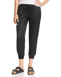 Enza Costa - Cropped Jogger Pants - Lyst