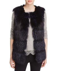 Maximilian - Collarless Fox Fur Vest - Lyst