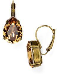 Sorrelli - Swarovski Crystal Teardrop Earrings - Lyst