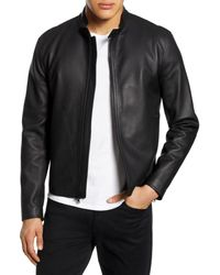 Vince Classic Leather Jacket - Black