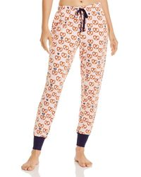 Jane & Bleecker New York Printed Jogger Pajama Pants - Pink