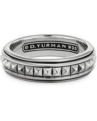 David Yurman Sterling Silver Pyramid Band - Metallic