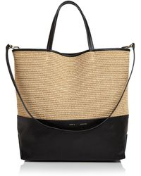 Alice.D - Extra Large Leather Tote Bag - Lyst