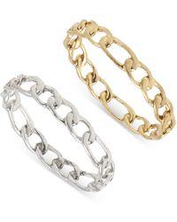 AllSaints Frozen Chain Rings - Metallic