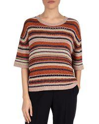 Gerard Darel Eleana Knit Striped Jumper - Multicolour