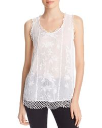 Johnny Was Quynn Embroidered Tank - White