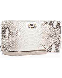 Zadig & Voltaire - Compagnon Savage Embossed Leather Wallet - Lyst