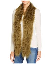 Jocelyn Tibetan Lamb Fur Scarf - Green