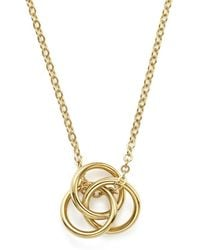 """Bloomingdale's - 14k Yellow Gold Love Knot Necklace, 18"""" - Lyst"""