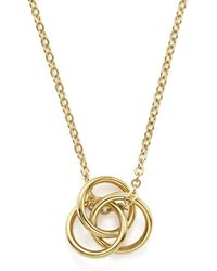Bloomingdale's - 14k Yellow Gold Love Knot Necklace - Lyst