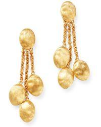 Marco Bicego - 18k Yellow Gold Siviglia Three-strand Chain Link Drop Earrings - Lyst
