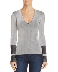 Theory - Optic Stripe Sweater - Lyst